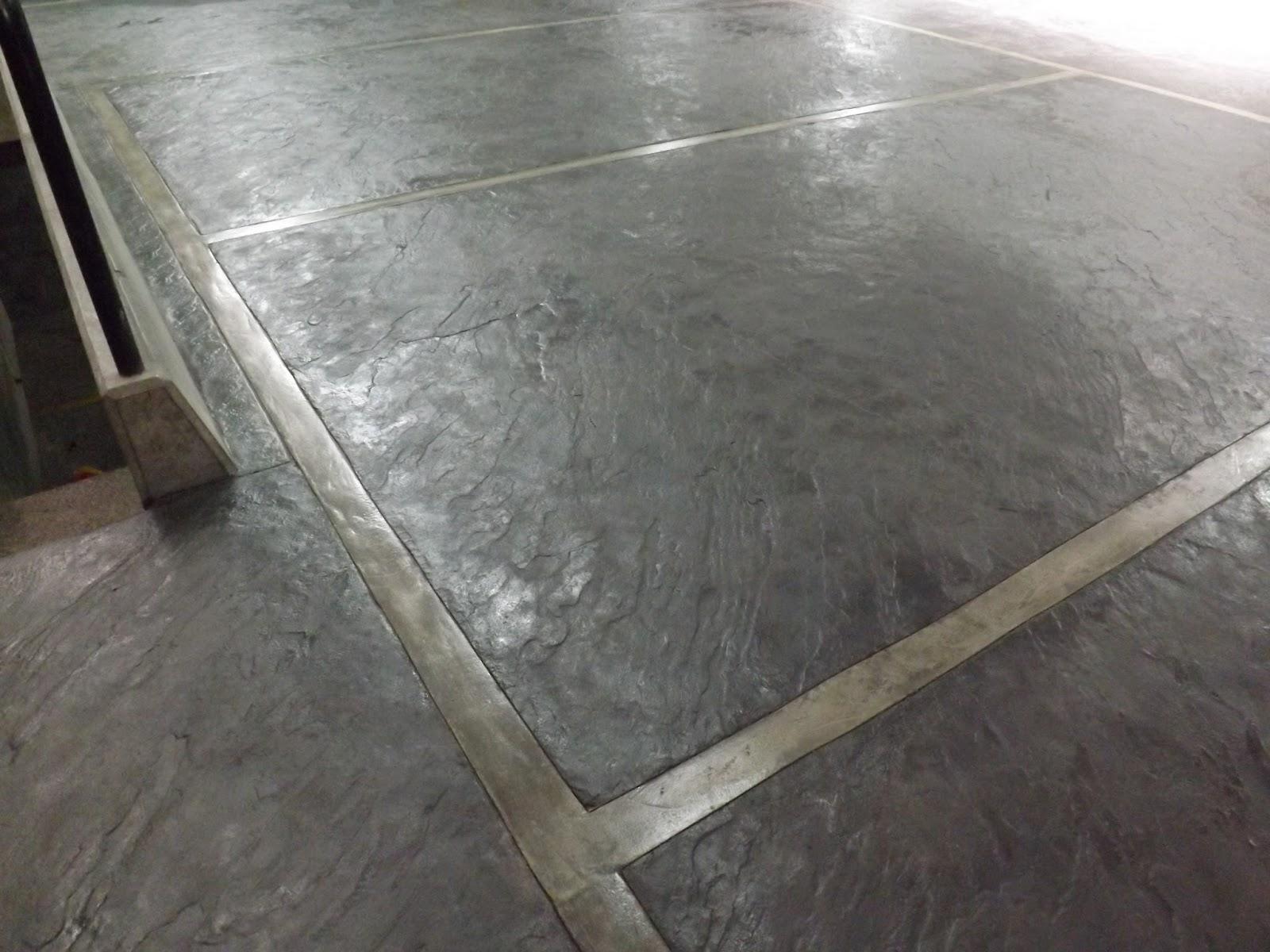 Oniria piso de estacionamiento de concreto estampado for Piso cemento pulido
