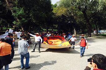 Habitantes de Texcoco protestan contra Nuevo Aeropuerto de la CDMX