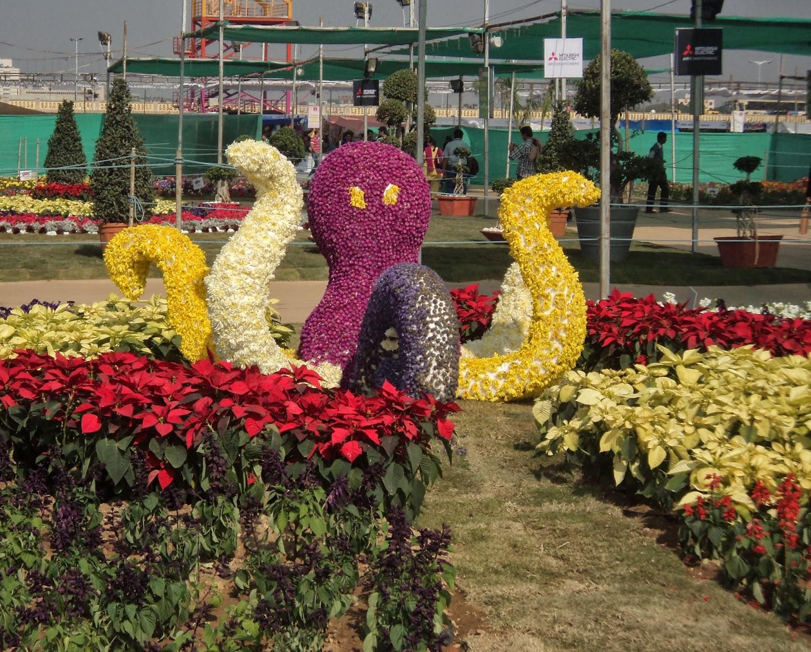 octopus flower sculpture
