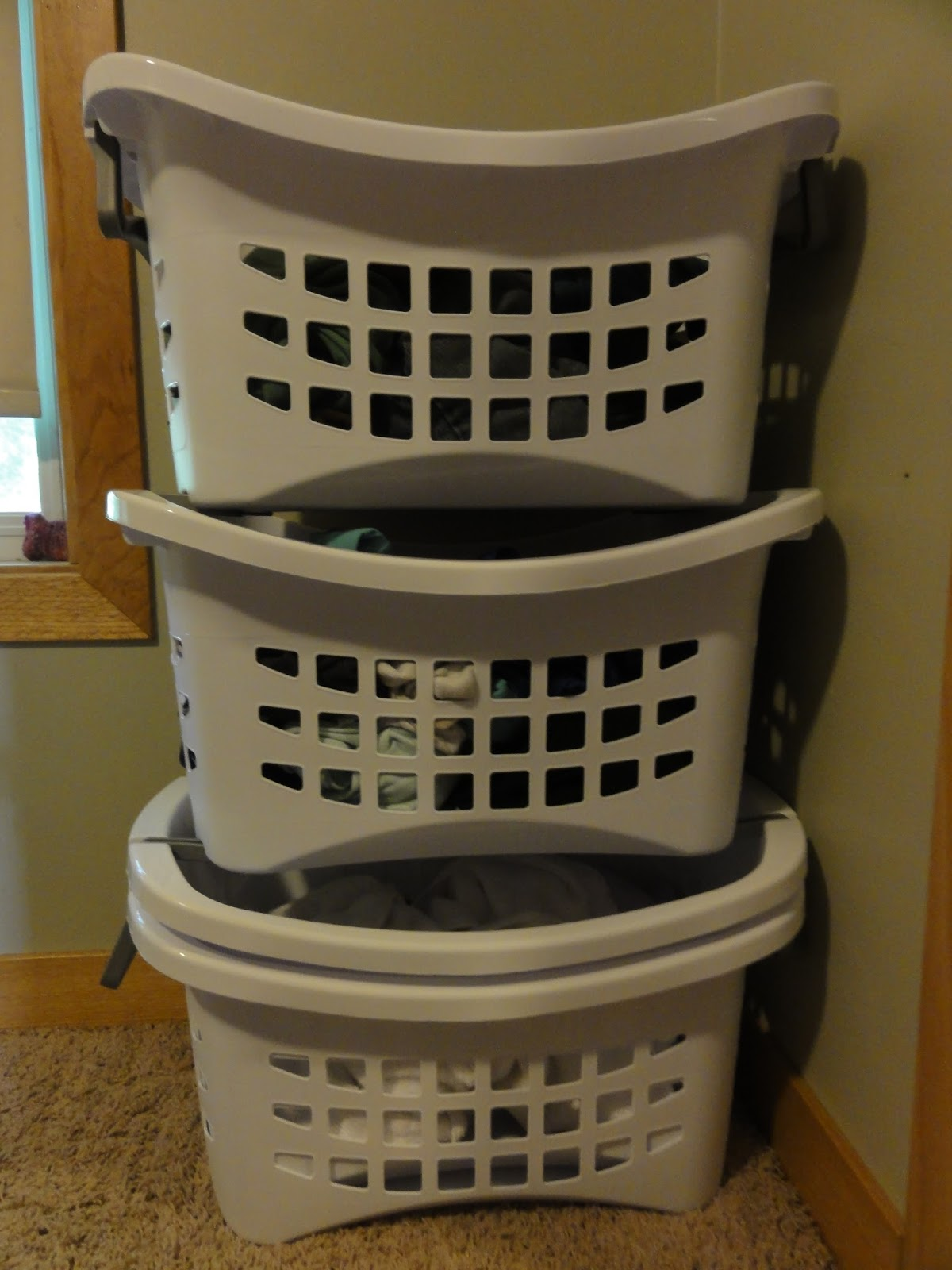 Before and After Baby: Sterilite® Stacking Laundry Baskets ...