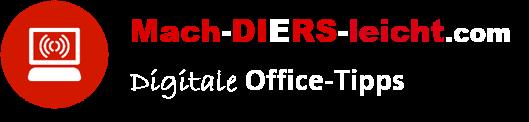 Mach' DIERS leicht - Digitale Office-Tipps