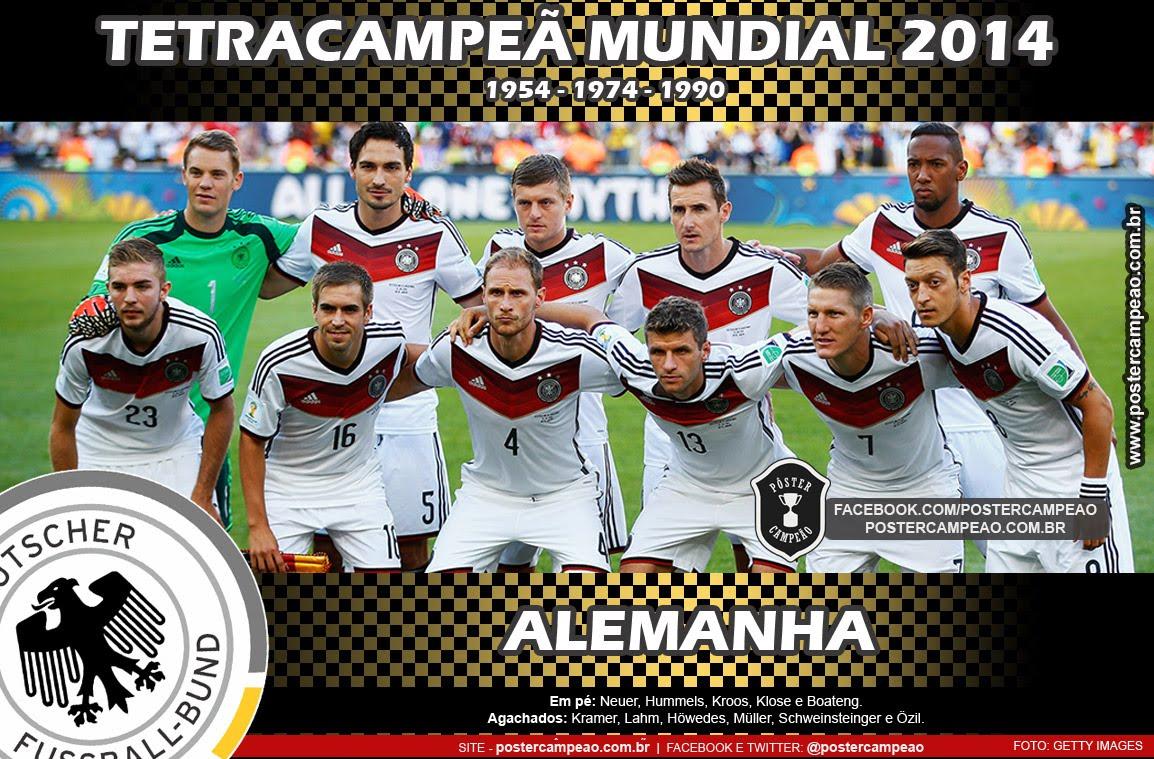 Pôster Alemanha Tetracampeã Mundial 2014 95ca9dd1caaea