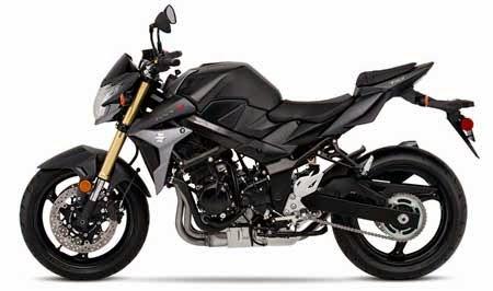 tampilan terbaru Suzuki GSX S750A warna hitam