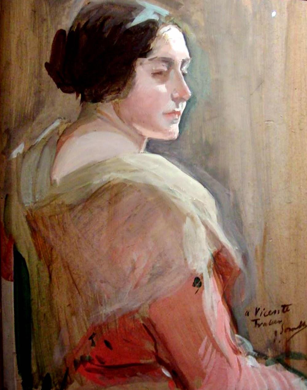 Joaquín Sorolla Bastida, Retratos de Joaquín Sorolla, Retrato de una Mujer, Joaquín Sorolla, Pintor español