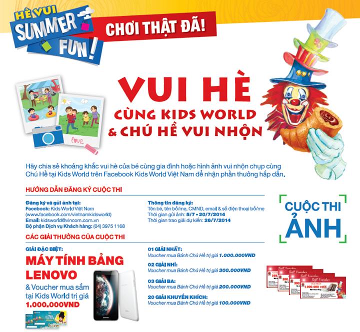 Kết quả cuộc thi Vui Cùng Chú Hề Vui Nhộn Kids World