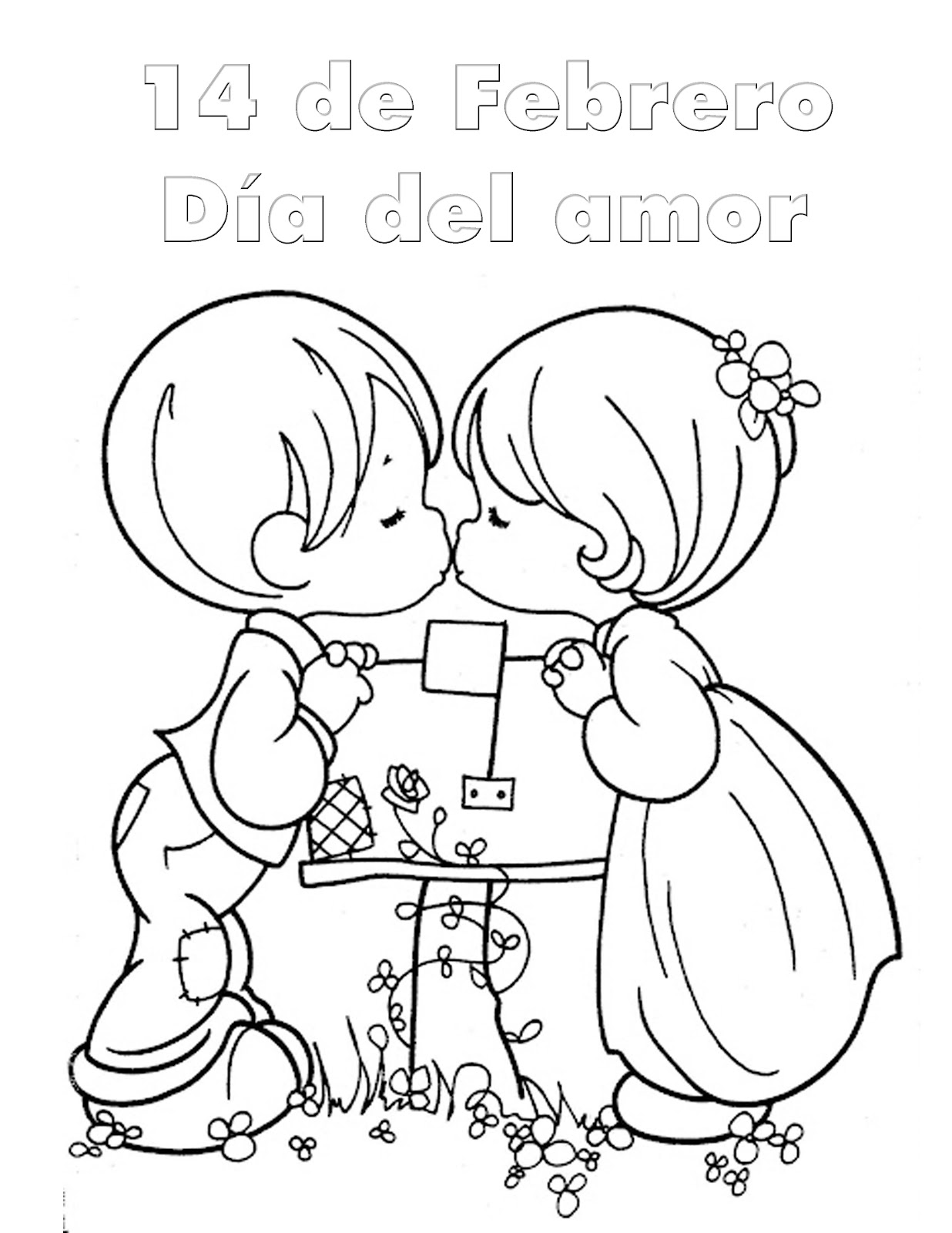 Día del amor para colorear 14 de febrero
