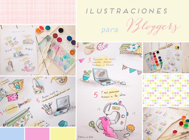 Moodboard ilustraciones para bloggers