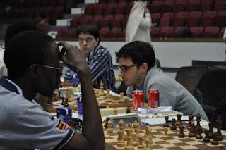Maxime Vachier-Lagrave et Laurent Fressinet lors de la ronde 2 © site officiel