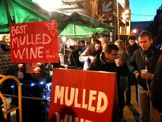 Mulled Wine outside Brick Lane Sunday Upmarket