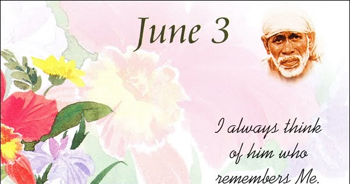 Sai Picture gallery: Shri Shirdi Sai speaks-3rd June/Today is Shukla ...
