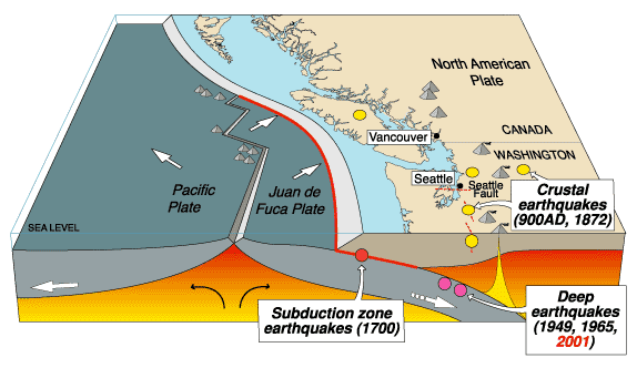 the process of an earthquake