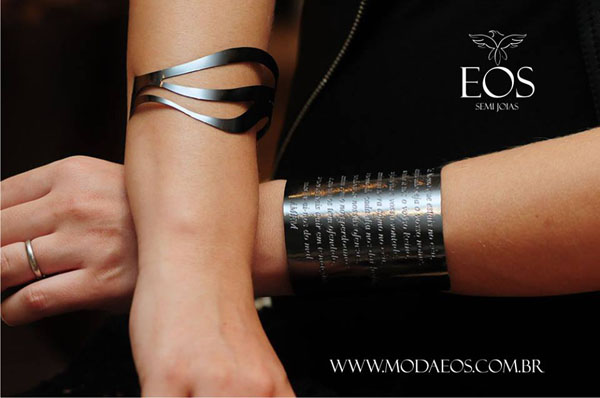 semi joias Moda EOS - bracelete prateado