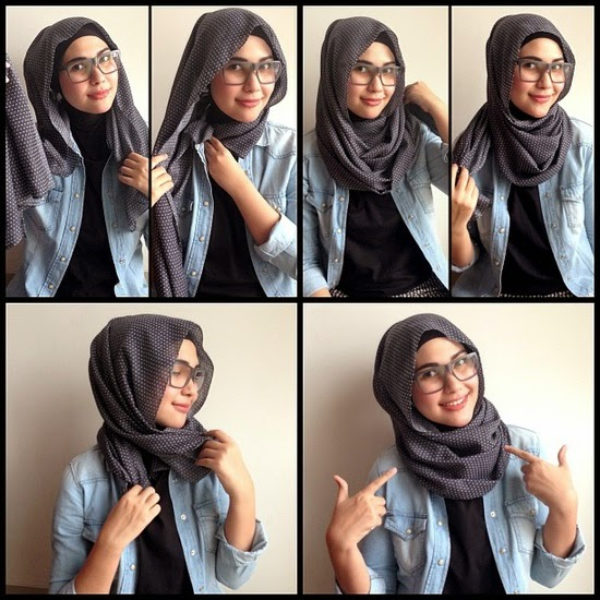 Tutorial Hijab Style with Glasses