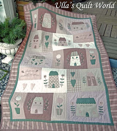 Quilted Tilda blanket, Houses