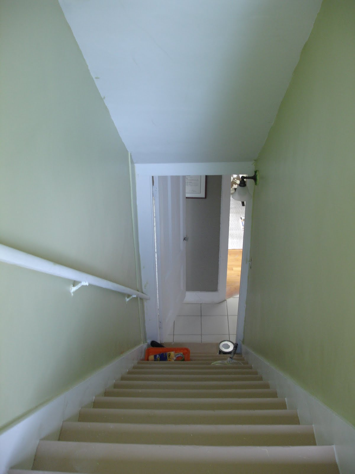 Loft Cottage Stair Walls Painted