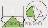 Bước 7: Mở hai lớp giấy và gấp xuống dưới