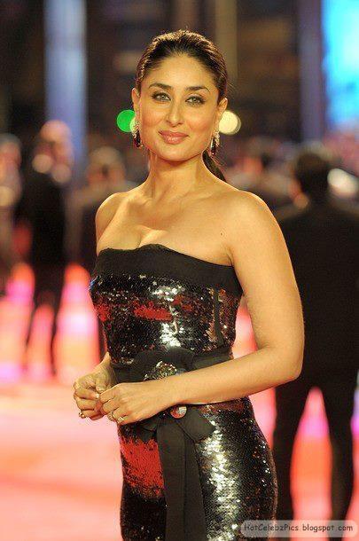 Kareena Kapoor hot in black dress at ra one premiere in london