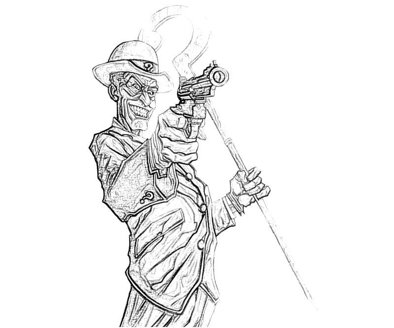 batman riddler coloring pages - photo#12