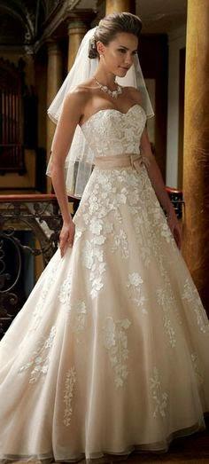 bellos vestidos de novia para enamorar al novio : la novia y bodas