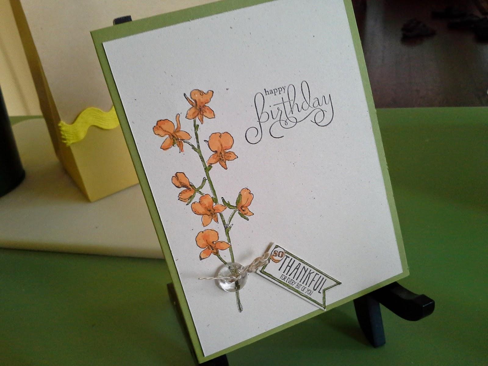 Hand-stamped birthday card using Stampin' Up! Amazing Birthday