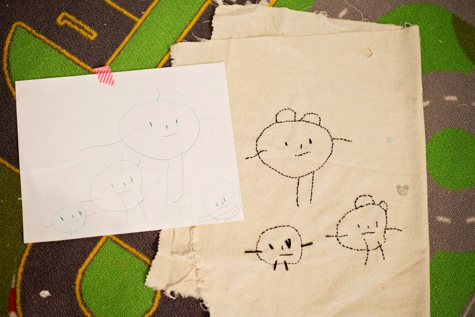 hand embroidery for your kid's artwork