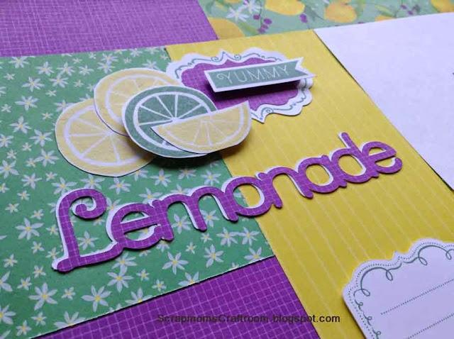 "Taste of Summer - ""Lemonade"" - Close To My Heart (Magic: Parlor Trick) --- ScrapmomsCraftroom.blogspot.com"