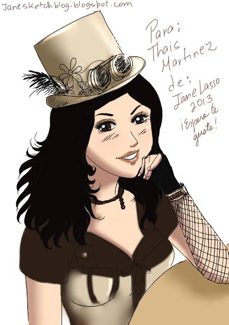 Personaje steampunk ,creado por Jane Lasso