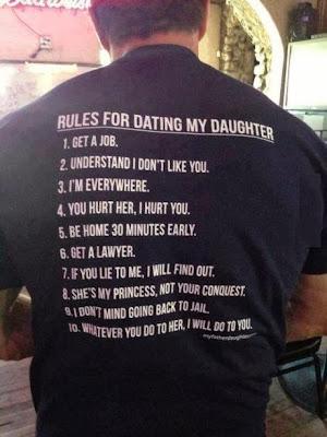 Reglas para tener una cita con mi hija
