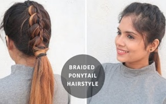 Quick & Easy Low Dutch Braid Ponytail Hairstyle /Hairstyle For Medium To Long Hair