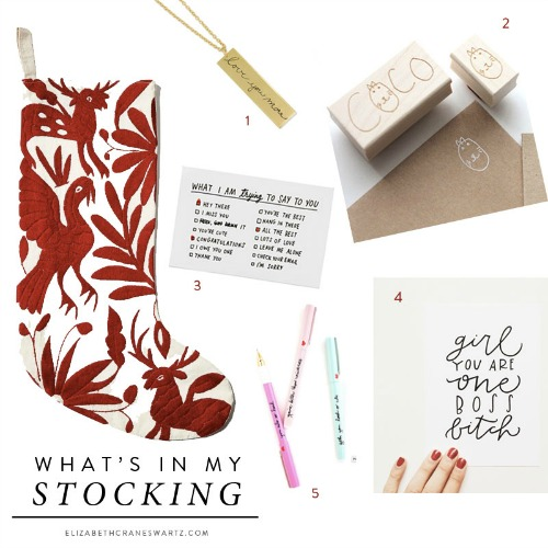 Boston Blogger Gift Guide of Handwritten Gifts