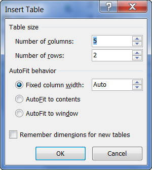 word how to delete a table