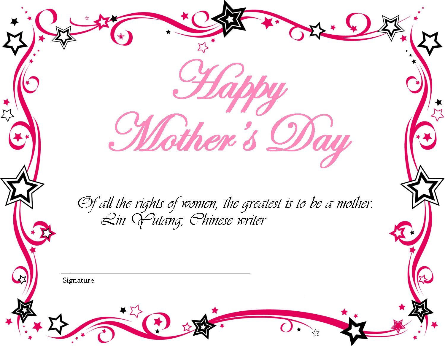 Printable Mothers day cardsFree Mothers Day ecards  Happy