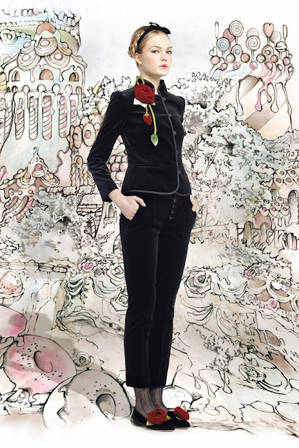 red valentino autumn winter 2013 2014 fashion trendsred valentino autumn winter 2013 2014 black velvet womens' suit
