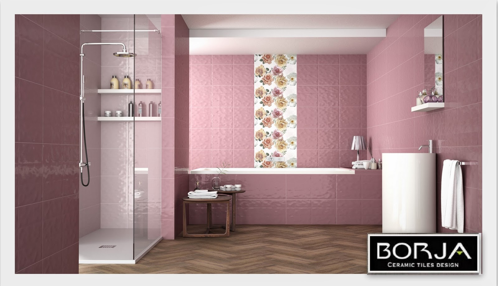 Borja ceramic tiles design combination decor bristol 30x60 and langley white 30x60 doublecrazyfo Image collections
