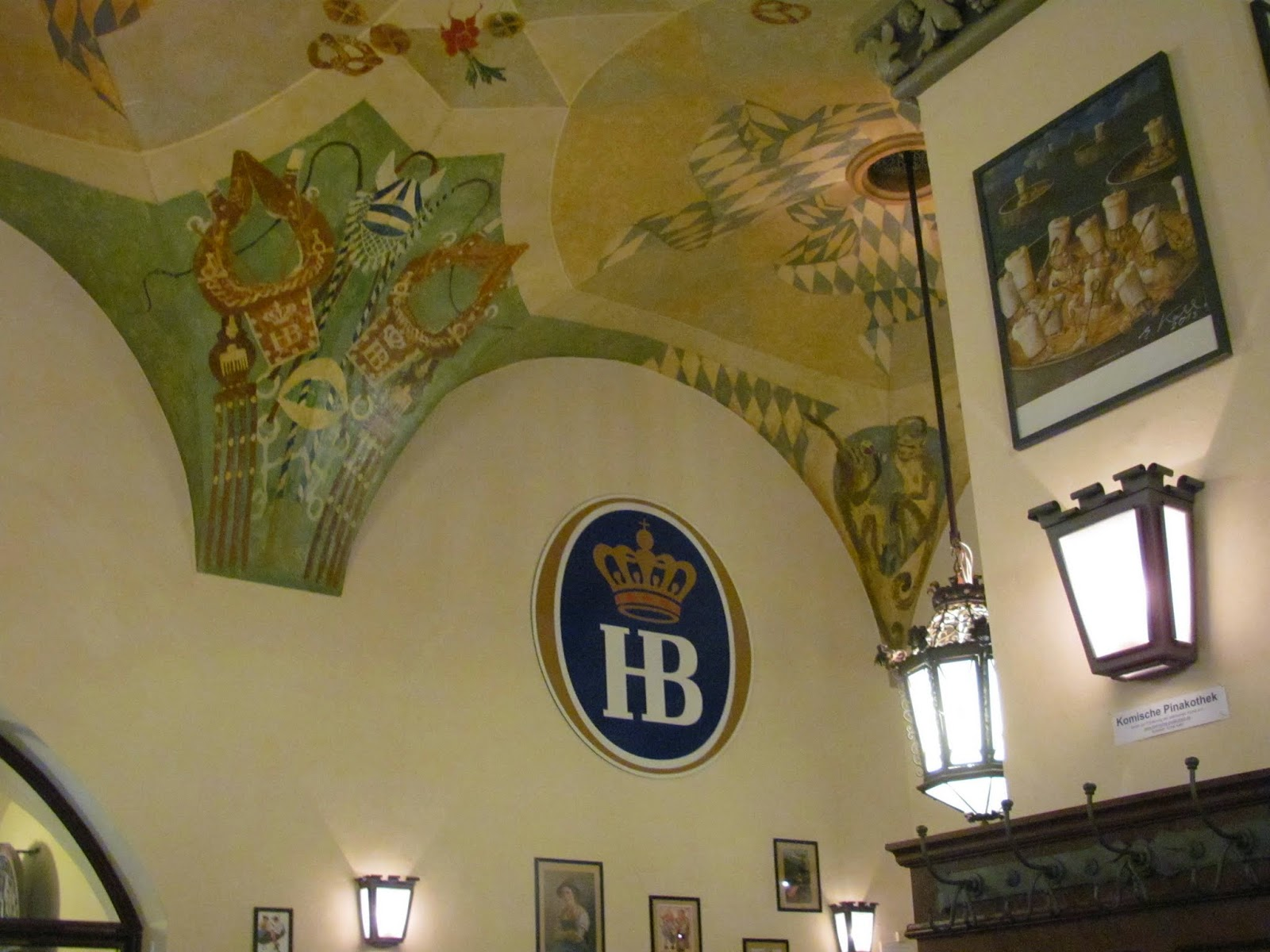 Hofbrauhaus Beer Hall Interior Munich Germany