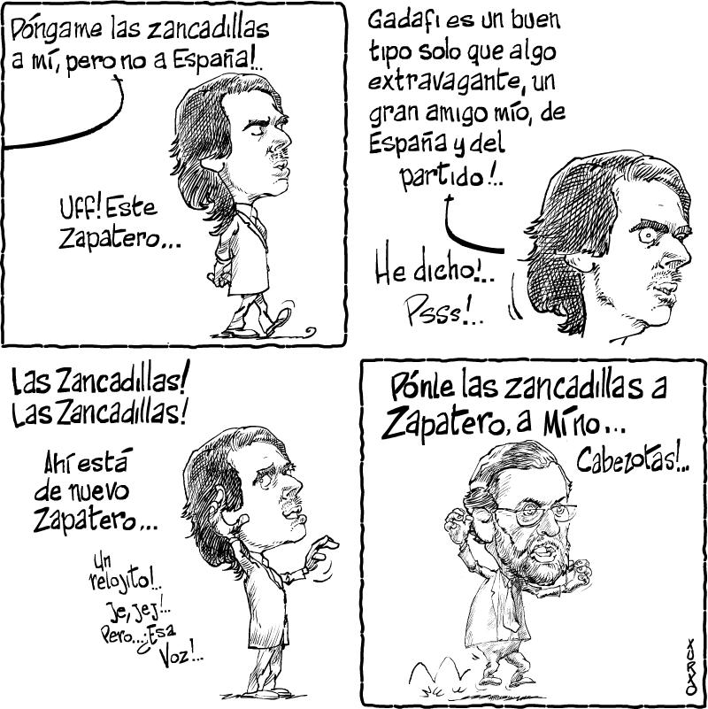 caricaturas aznar: