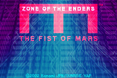 Zone of the Enders Fist of Mars Title Screen
