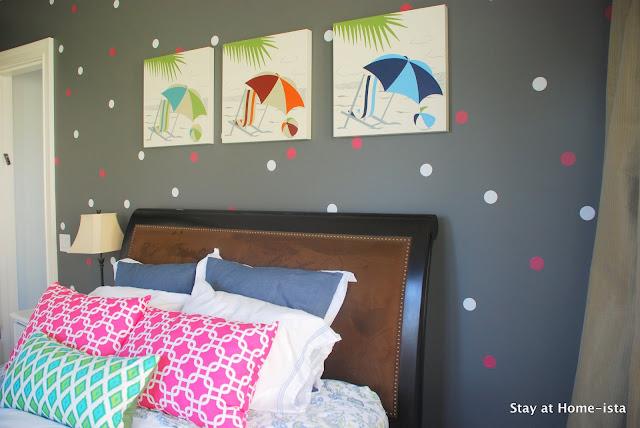 confetti wall treatment with vinyl polka dots