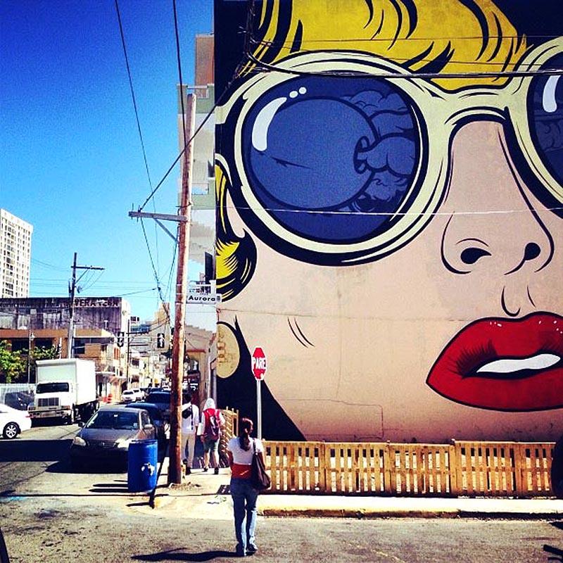D face new mural in santurce puerto rico streetartnews for Murales faciles y creativos
