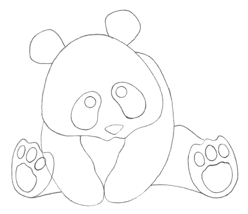 panda stencil template