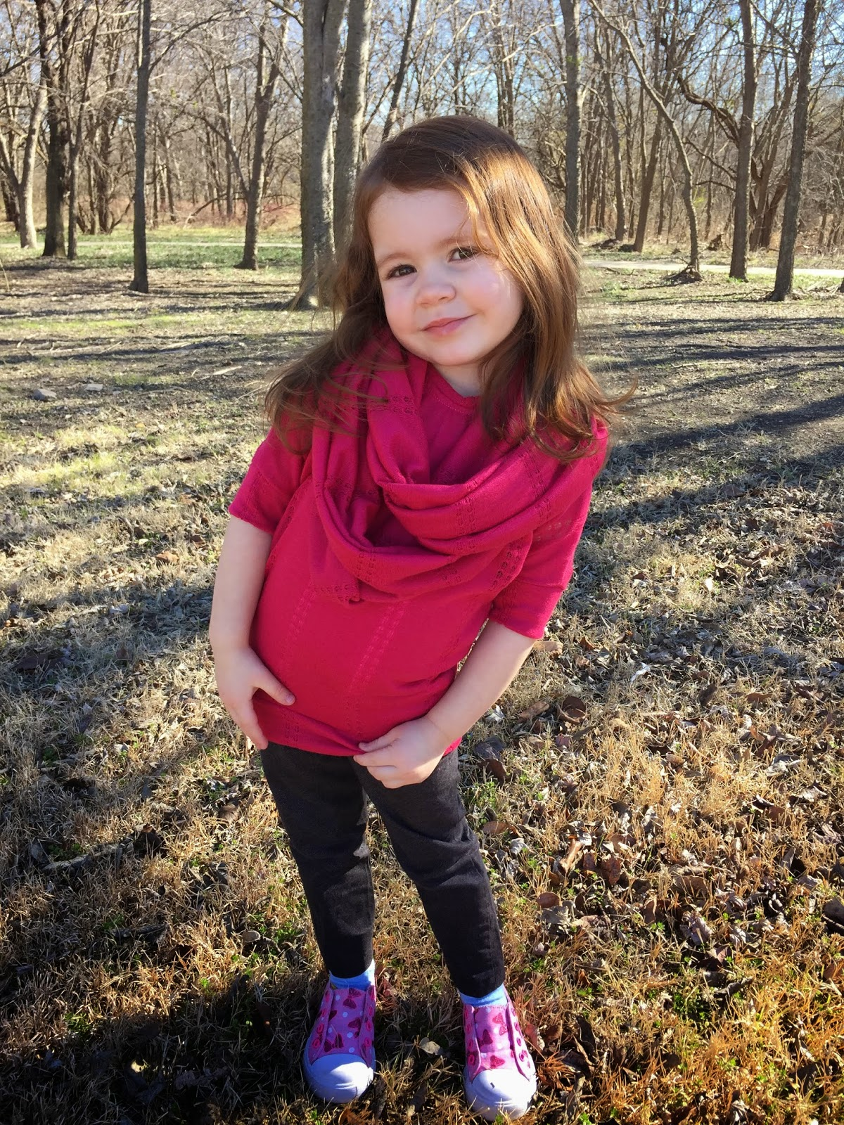 Knitting Pattern Child Infinity Scarf : Create Kids Couture: Girls Knit Infinity Scarf