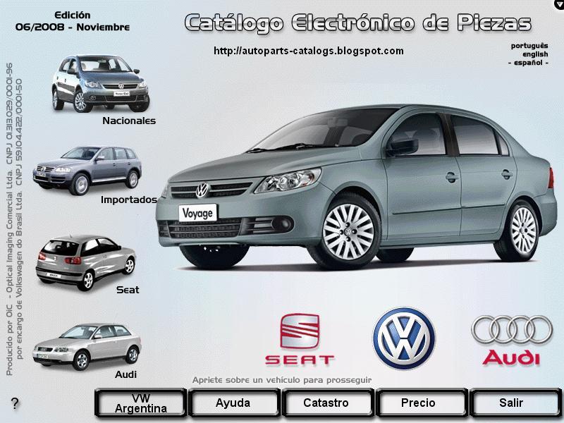 autoparts catalogs volkswagen brasil automoviles oic
