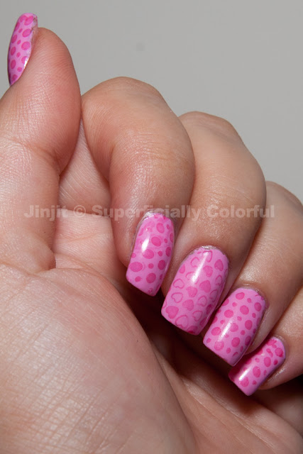 China Glaze Dance Baby stamped with Ciaté Jelly Bean