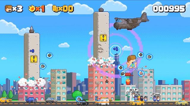 Usa tu 'atributo' más especial en Attack of Giant Jumping Man, un nuevo plataformas de acción en desarrollo