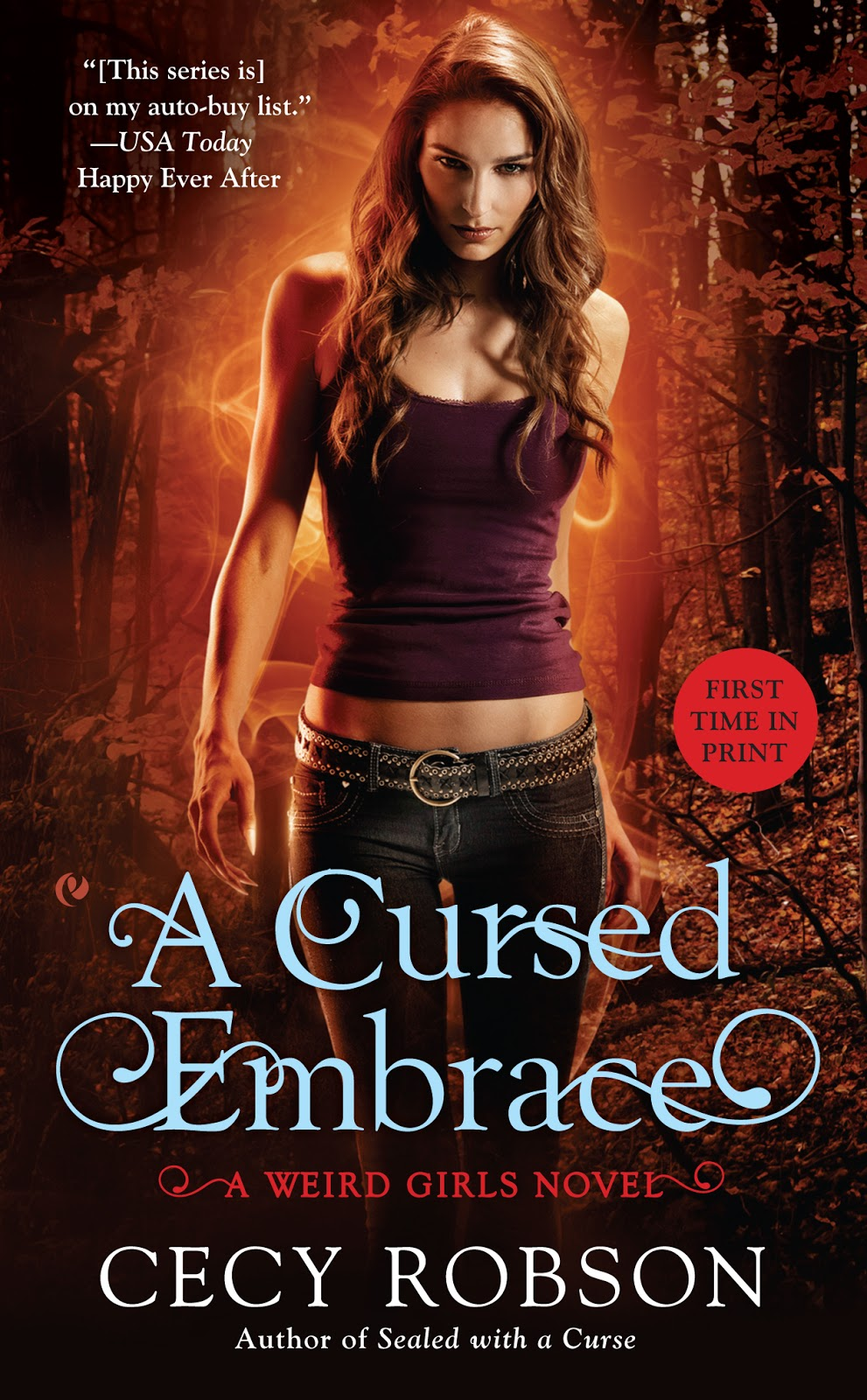 A Cursed Embrace by Cecy Robson (Weird Girls #2)