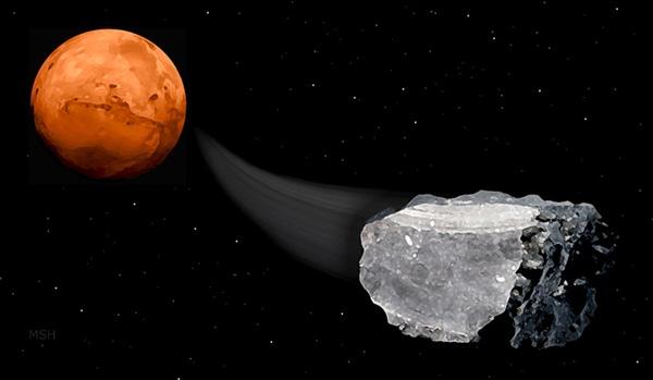 Ilmuwan Berhasil Temukan Metana di Meteorit Mars