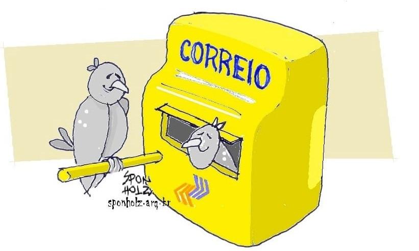 Os correios entram em greve e as pombas rolas deitam e rolam...