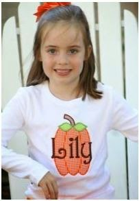 http://www.thepinkgiraffe.net/personalizedappliquepumpkinchildst-shirt