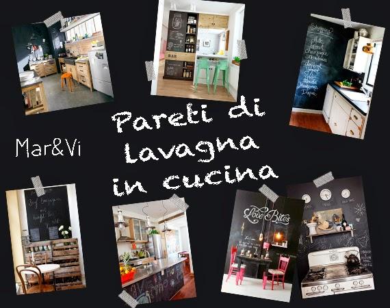 Mar&Vi Blog: Arredare low cost: pareti di lavagna in cucina