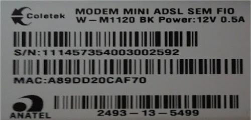 CONFIGURANDO MODEM MINI ADSL SEM FIO W-M1120 BK VIVO INTERNET